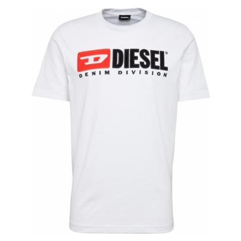 DIESEL Koszulka 'T Just Division' biały