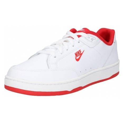 Nike Sportswear Trampki niskie 'Grandstand II Shoe' czerwony / biały
