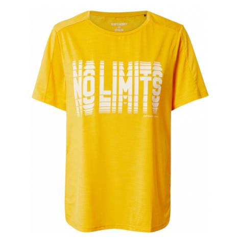 Superdry Koszulka funkcyjna 'Tech Touch' żółty / biały