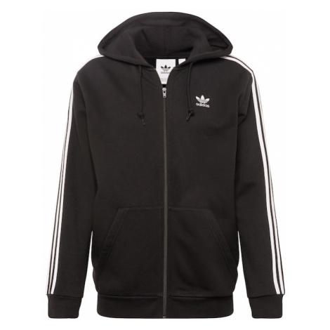 ADIDAS ORIGINALS Bluza rozpinana '3-Stripes Fz' czarny / biały