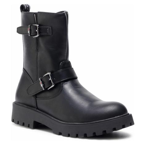 Kozaki TOMMY HILFIGER - Biker Boot T3A5-30855-0193 S Black 999