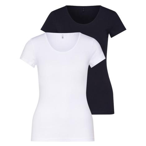 ONLY Koszulka 'LOVE O-NECK' czarny / biały