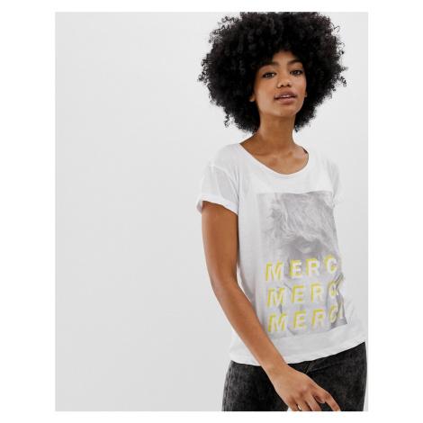 Blend She Merci print slogan t-shirt