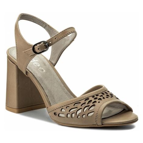 Sandały EDEO - 3210L-H67 Kawowy