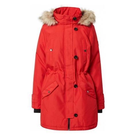 VERO MODA Płaszcz zimowy 'Excursion Expedition' czarny / czerwony / beżowy