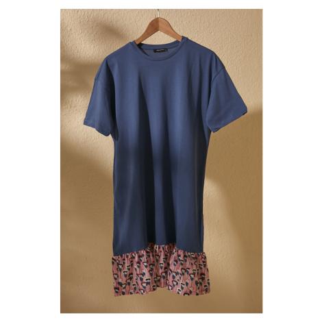 Trendyol Navy Woven Detailed Knitting Dress