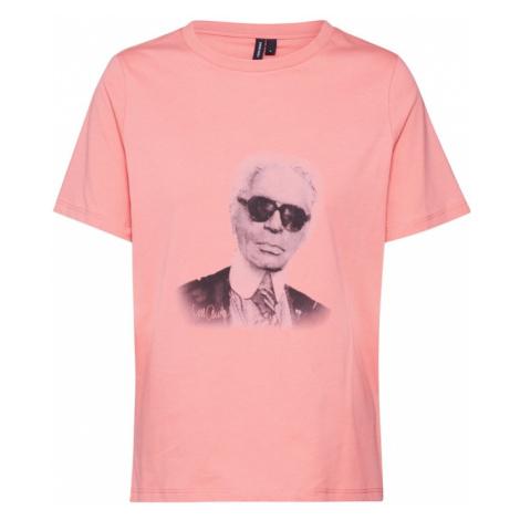 VERO MODA Koszulka 'KARLA' różowy pudrowy