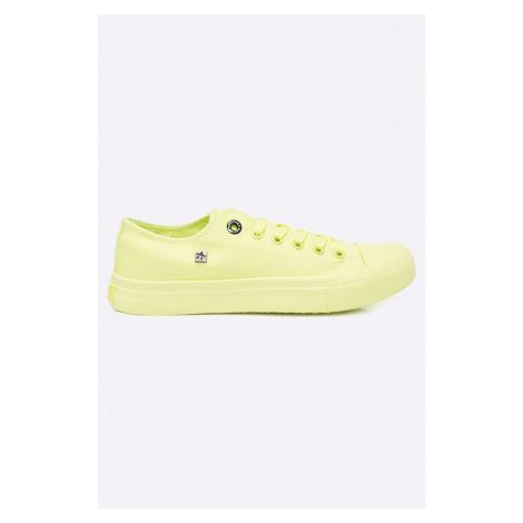 Zielone damskie obuwie sneakers