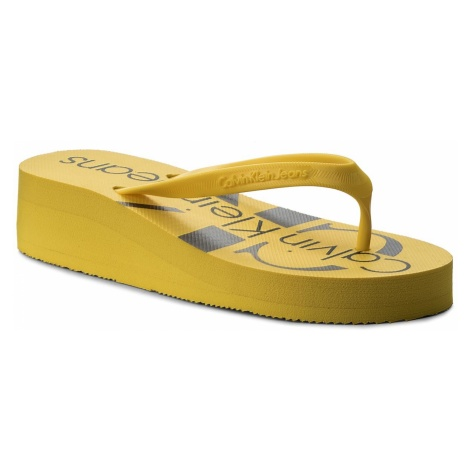 Japonki CALVIN KLEIN JEANS - Tesse Jelly RE9734 Accent Yellow