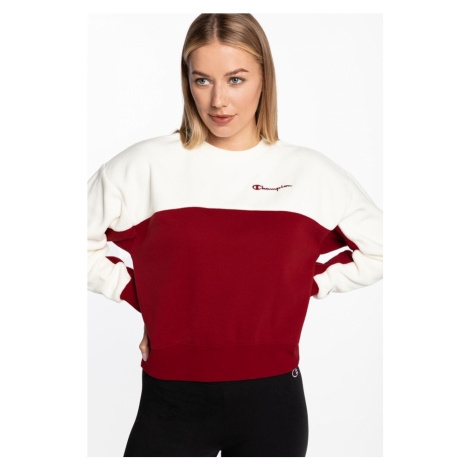Bluza Champion Crewneck Sweater 113232-Rs502 White/red
