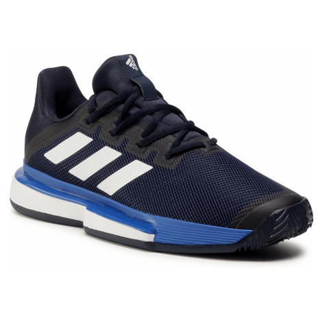 Buty adidas - SoleMatch Bounce M Clay EG2219 Legend Ink/Cloud White/Royal Blue