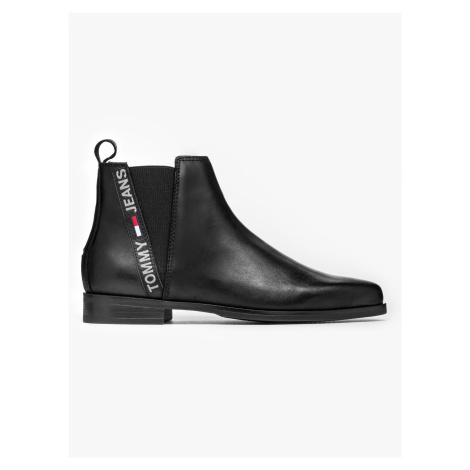 """Tommy Jeans """"Essential Pointy Chelsea Boot"""" Black Tommy Hilfiger"""