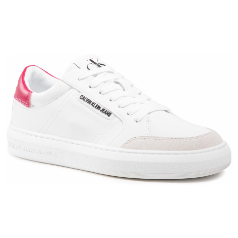 Sneakersy CALVIN KLEIN JEANS - Cupsole Sneaker Laceup Pu-Ny YW0YW00064 YAF