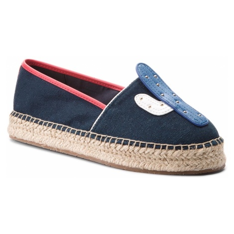 Espadryle TOMMY HILFIGER - Patch Espadrille Corporate FW0FW03389 Midnight 403