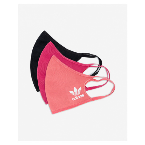 adidas Originals 3-pack Maseczka Czarny Różowy