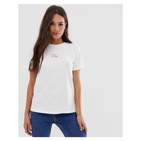 ASOS DESIGN t-shirt with heart and kisses motif