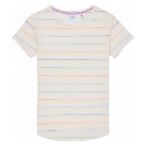 O'Neill LW STRIPE LOGO T-SHIRT beżowy S - Koszulka damska