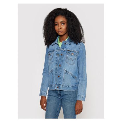 Wrangler Kurtka jeansowa 124WJ W4WJUG24L Granatowy Regular Fit