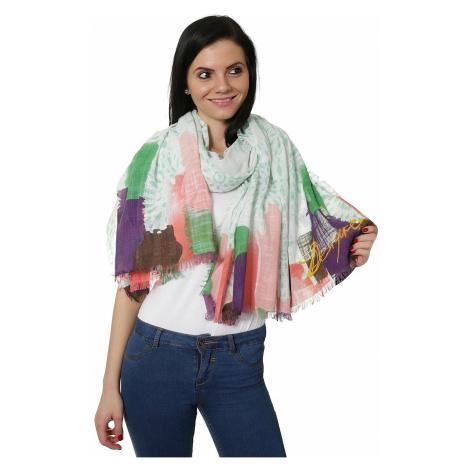 chusta Desigual 61W54E6/Ramie Happy Bazar - 4071/Verde Boho