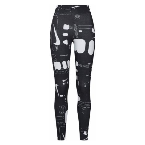 Nike Sportswear Legginsy czarny / biały