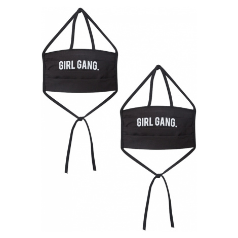 Mister Tee Maska z materiału '2er Pack Girl Gang' czarny