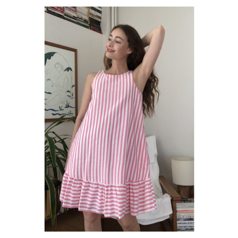 Women's dress Trendyol Striped