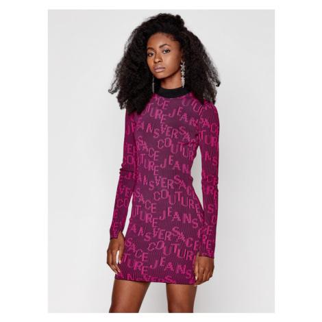 Versace Jeans Couture Sukienka dzianinowa B4HZB810 Różowy Slim Fit