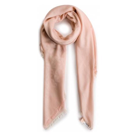 Chusta TORY BURCH - Multi Logo Oversized Square Scarf 54710 Pink Salt 683