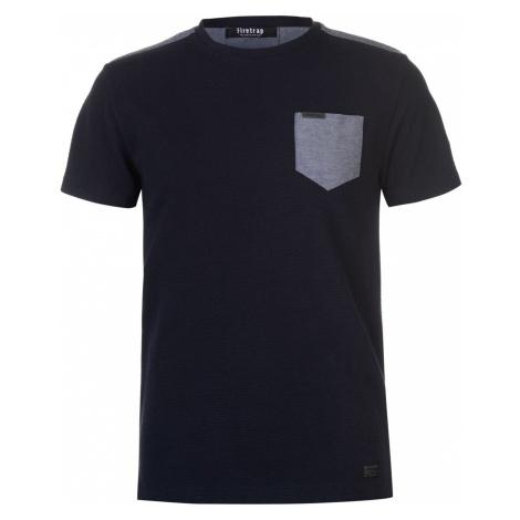 Firetrap Blackseal Texture T Shirt