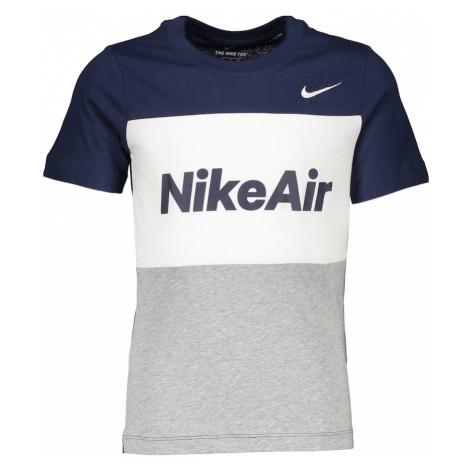 Nike Sportswear Koszulka biały / nakrapiany szary / atramentowy