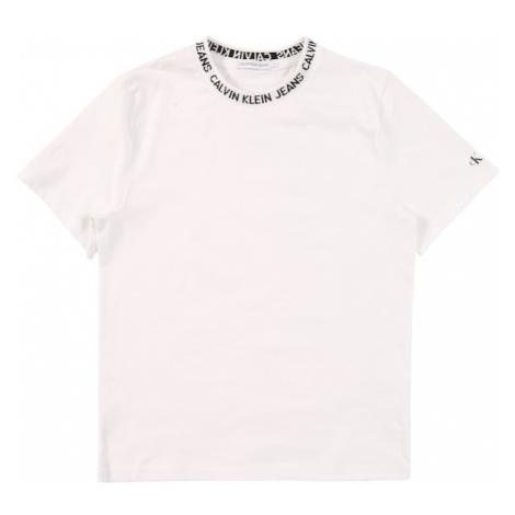 Calvin Klein Jeans Koszulka 'INTARSIA' biały
