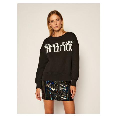 Versace Jeans Couture Bluza B6HZA7KI Czarny Regular Fit