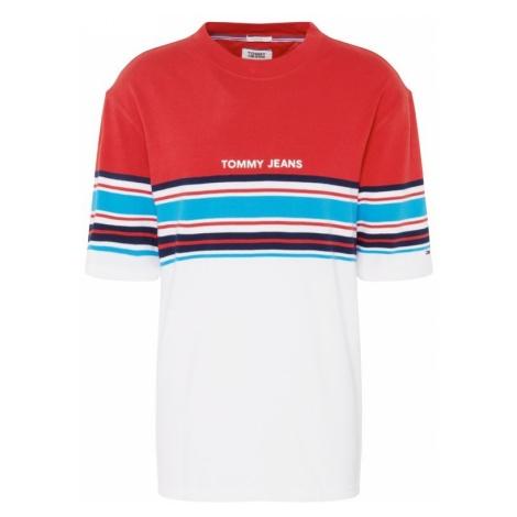656a92a349f0f2 -31 % Tommy Jeans Koszulka 'TJM PLACED STRIPE TEE' niebieski / czerwony /  biały Tommy Hilfiger