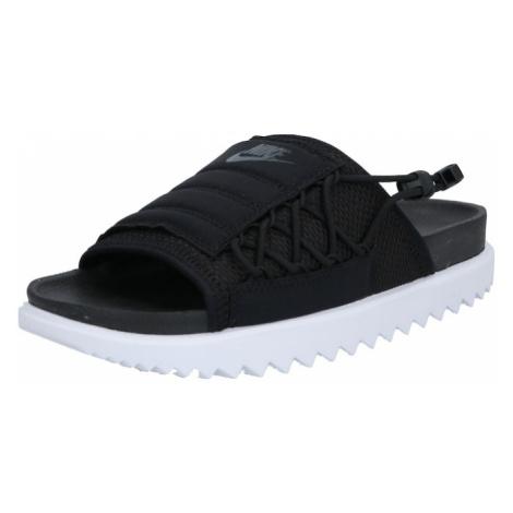 Nike Sportswear Klapki 'City' biały / czarny