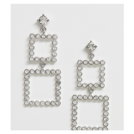 True Decadence Exclusive rhinestone square earrings