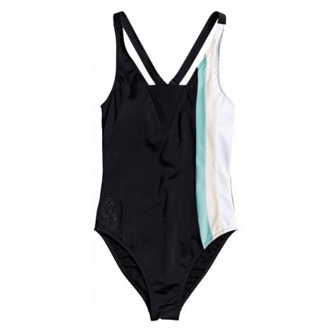 ROXY Strój kąpielowy sportowy 'FIT FA ON PC J' czarny / jasnoniebieski