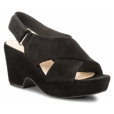 Sandały CLARKS - Maritsa Lara 261317744 Black Suede