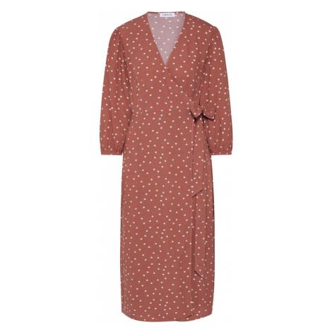 EDITED Sukienka 'Alene' biały / brązowy