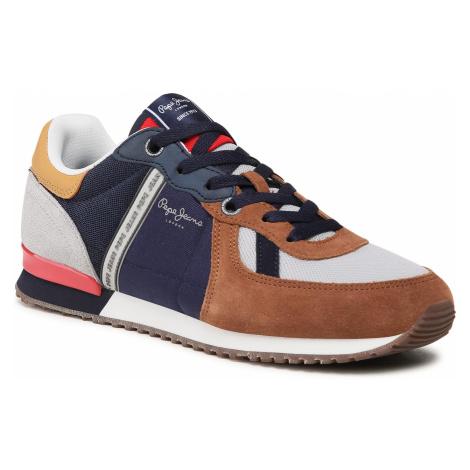 Sneakersy PEPE JEANS - Tinker Zero 21 PMS30725 Cognac 879