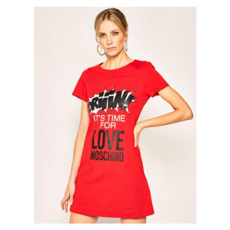 LOVE MOSCHINO Sukienka codzienna W592910M 3876 Czerwony Regular Fit