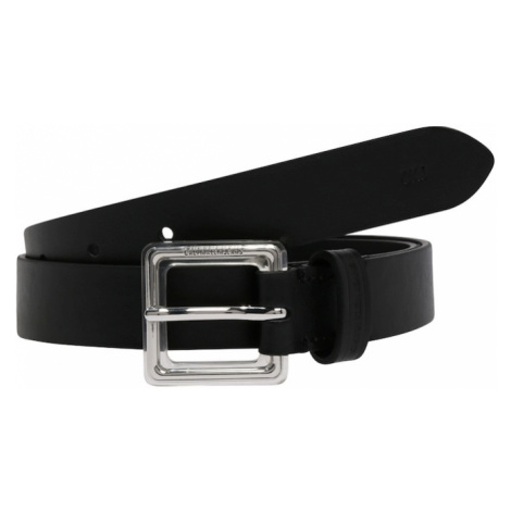 Calvin Klein Jeans Pasek czarny / srebrny