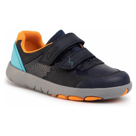 Sneakersy CLARKS - Rex Quest K 261491427 Navy Combi