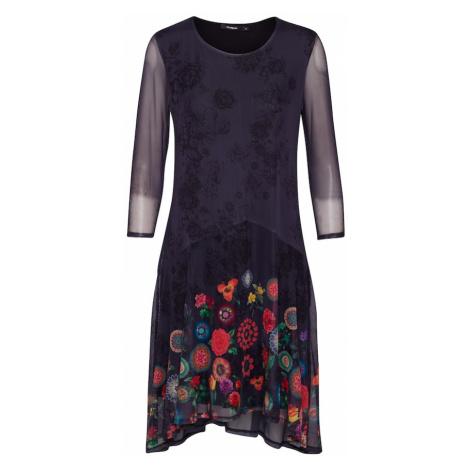 Desigual Sukienka 'OKONOR' mieszane kolory / granatowy / ciemny niebieski