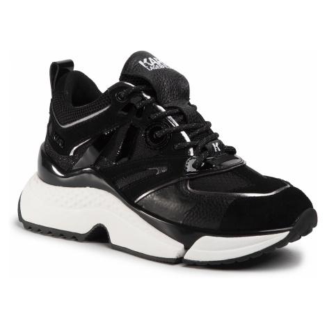 Sneakersy KARL LAGERFELD - KL61635 Black Lthr & Textile
