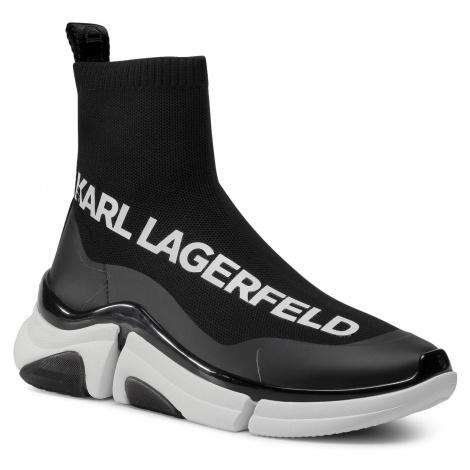 Sneakersy KARL LAGERFELD - KL51741 Black Knit Textile w/White