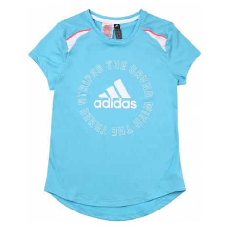 ADIDAS PERFORMANCE Koszulka funkcyjna 'BOLD' niebieski cyjan / biały / różowy
