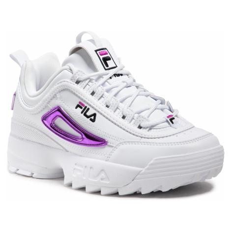 Sneakersy FILA - Disruptor M Wmn 1011237.95A White/Purple Cactus Flower