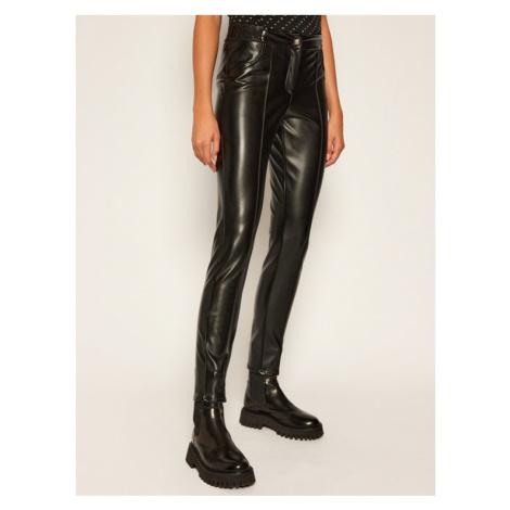 John Richmond Spodnie skórzane Merten RWA20234PA Czarny Slim Fit