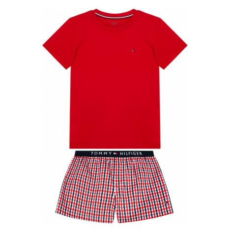Tommy Hilfiger Piżama Woven Print UB0UB00306 Czerwony Regular Fit