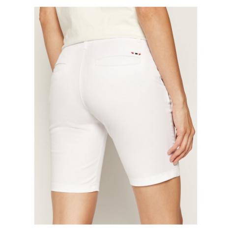 Napapijri Szorty materiałowe Noridian 1 N0YHH9 Biały Slim Fit